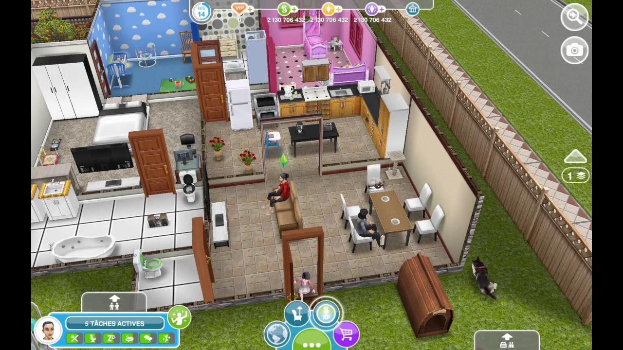 je vous pr sente les maisons des mes sims freeplay youtube. Black Bedroom Furniture Sets. Home Design Ideas
