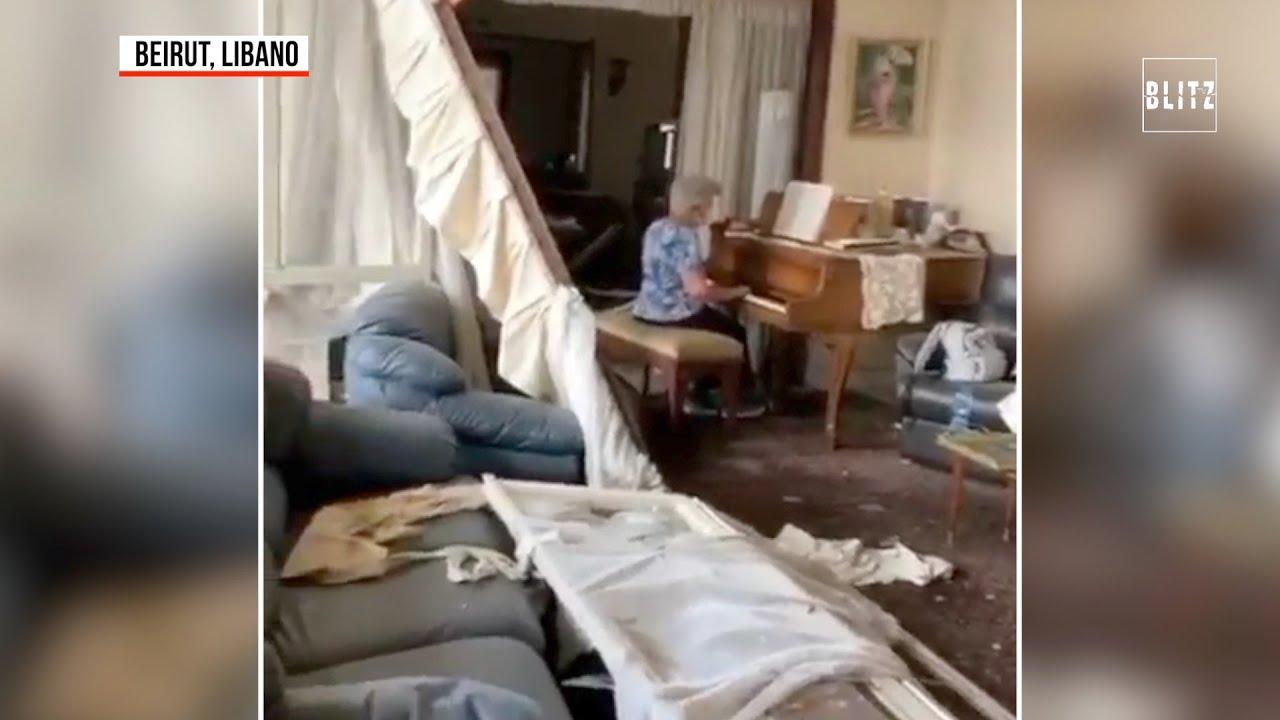 Libano Suona Il Pianoforte Nella Casa Distrutta Dall Esplosione Youtube