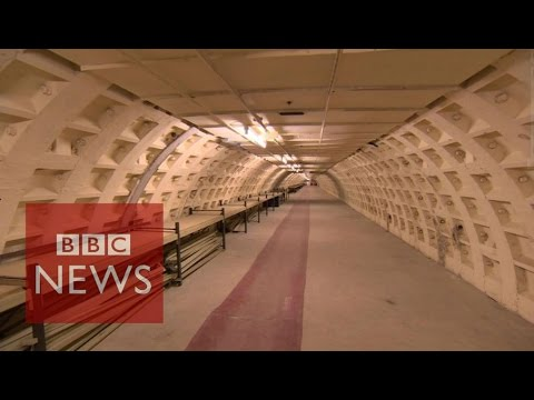 Forgotten secret wartime Tube station opened - BBC News
