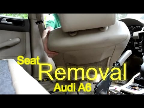 2015 Camry Wiring Diagram Remove An Audi A6 Front Seat 02 Audi A6 C5 How To