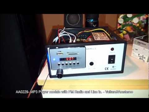 mp3 player module - jaycar fm radio line in SD MMC and USB supported.