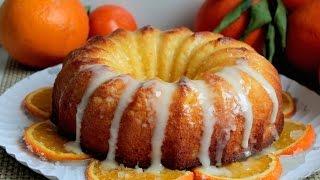 Bizcocho De Naranja Glaseado (sin Lactosa) 😋🍊🍊🍰 / Orange Sponge Cake