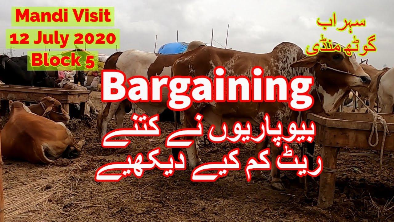 Bargaining For Bottom Rates - Sohrab Goth Maweshi Mandi