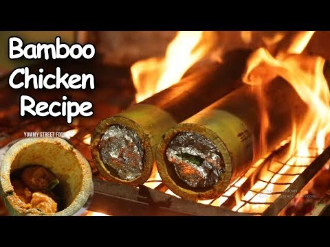 Bamboo Chicken Recipe | Bongu Chicken Recipe Village Style in Hyderabad | Yummy Street Food