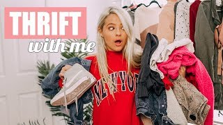 First Time Thrifting Try-On Haul! THRIFT WITH ME