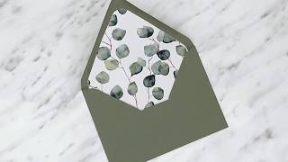 DIY Envelope Liner by Blanche Paperie