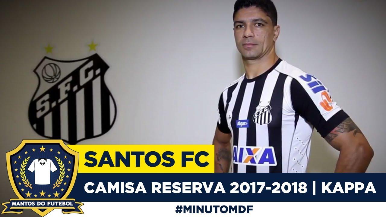 🐳Camisa do Santos FC 2017 2018 Kappa Away - YouTube 66509ea0d7776