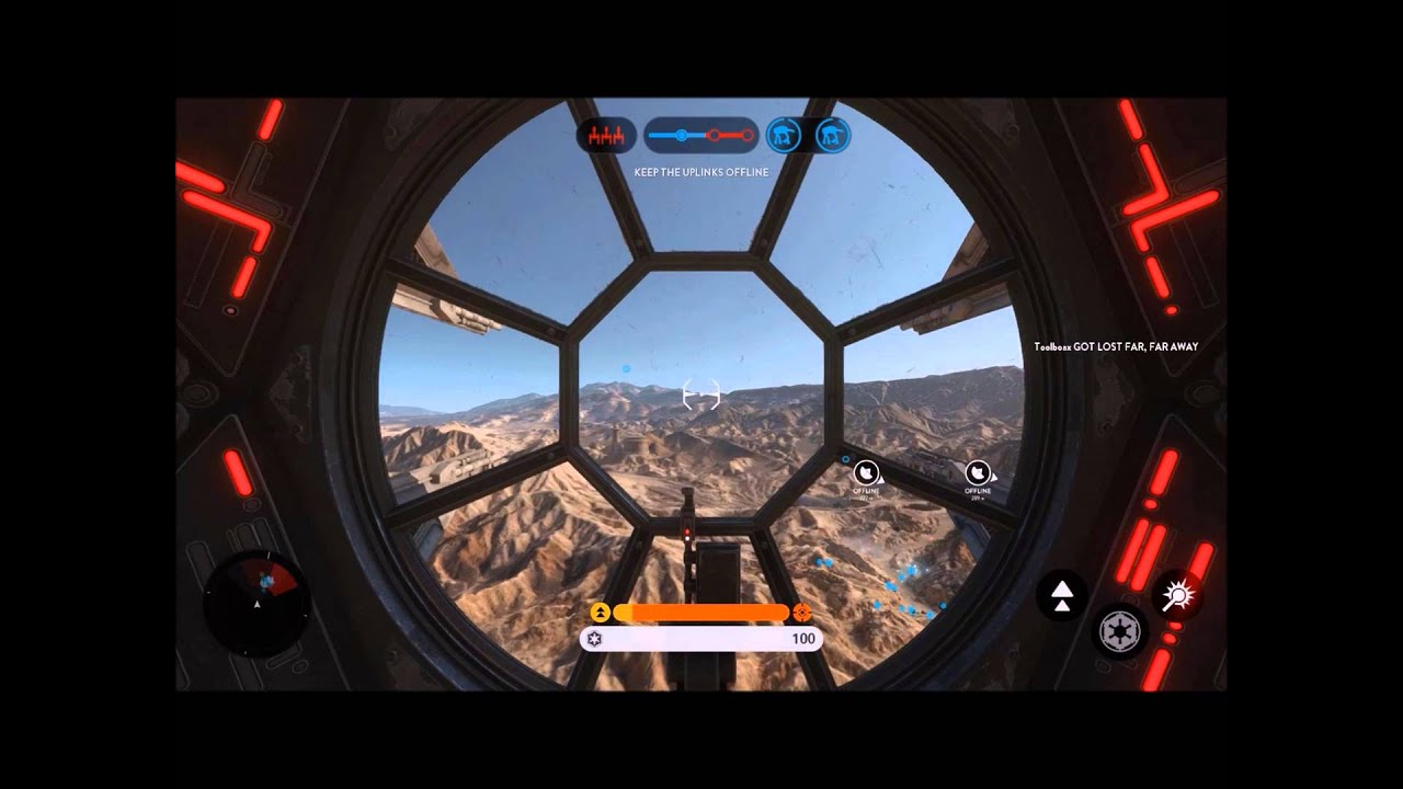 Star Wars Battlefront - Tie interceptor gameplay (First Person) - YouTube