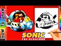 How to draw DR. EGGMAN ROBOTNIK from Sonic the hedgehog 2 Sega