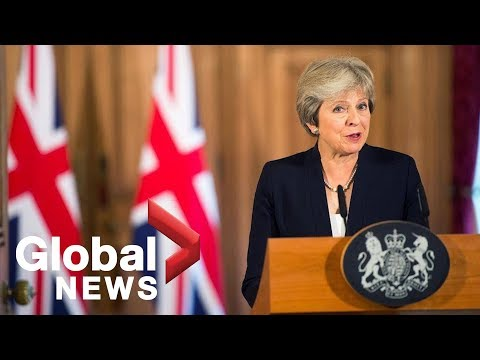 British PM Theresa May makes major announcement on #Brexit