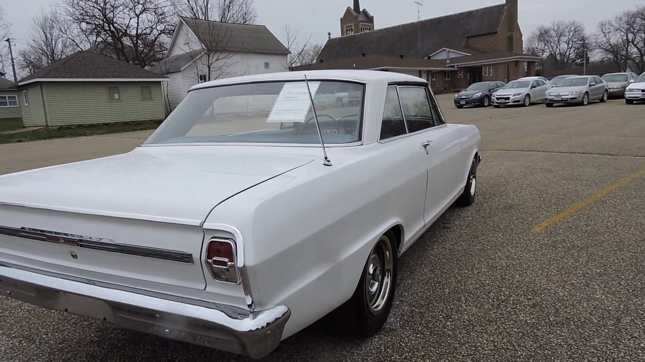 1964 chevy nova white for sale at www coyoteclassics com youtube. Black Bedroom Furniture Sets. Home Design Ideas