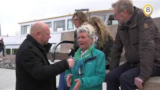 Opening bankje aan de haven in Elburg