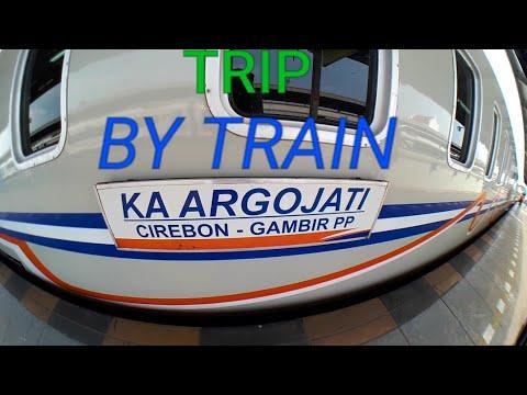 Full Trip Naik kereta api Argo Jati ke Cirebon-Pintu Otomatisnya berfungsi semua