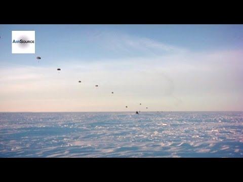Army Paratroopers Unit Conducted Airborne Exercise North of the Arctic Circle