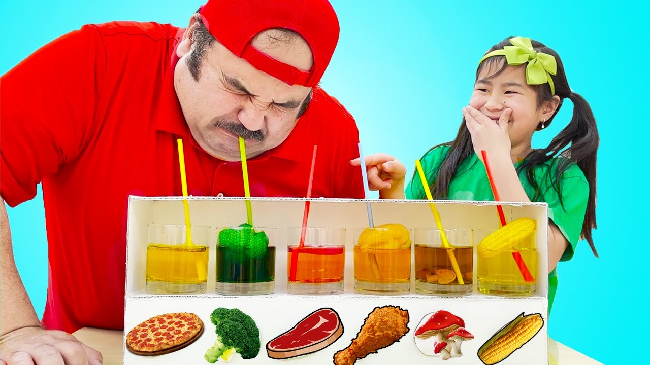 Jannie Pretend Play Yummy Fruits and Vegetables Drinks Stories for Kids