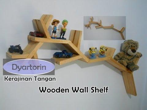Kerajinan Tangan Rak Dinding Unik dari Kayu Palet Bekas | Wooden Wall Shelf