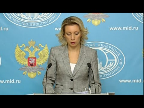 LIVE: FM's Zakharova holds weekly press briefing in Moscow