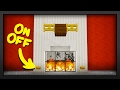 Minecraft   How To Make A Working Fireplace