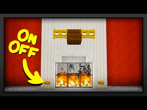 Minecraft - How To Make A Working Fireplace
