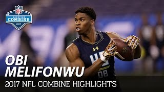 Obi Melifonwu (Connecticut, DB) | NFL | 2017 NFL Combine Highlights