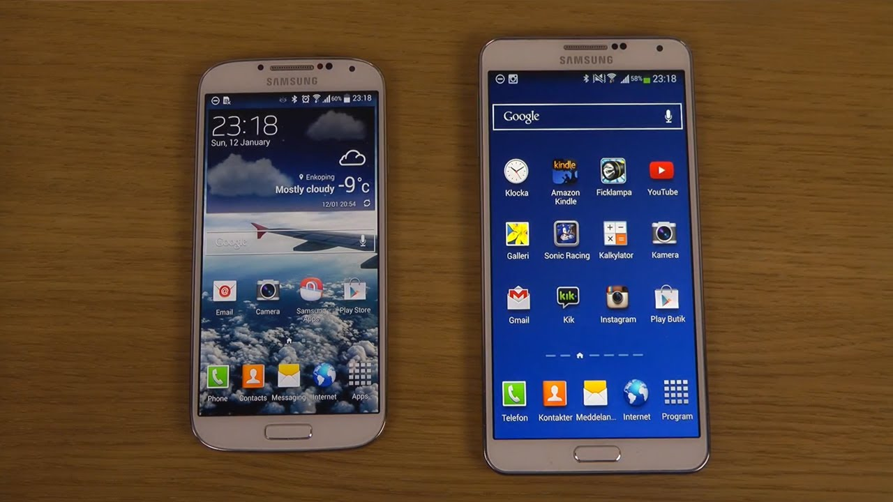 Samsung Galaxy S4 Official Android 4.4.2 KitKat vs ...