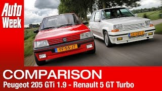 Peugeot 205 GTi 1.9 - Renault 5 GT Turbo English subtitled