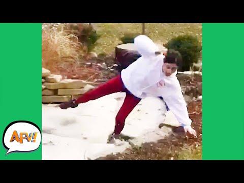 FAILING With COLD FEET! 😂   Funniest Fails   AFV 2020