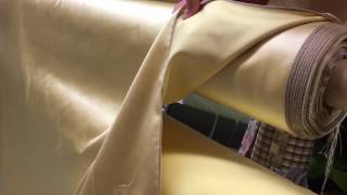 Gold Sateen Clothing Upholstery Drapery Fabric By The Yard 54