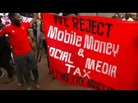 Protests over Uganda's tax on social media