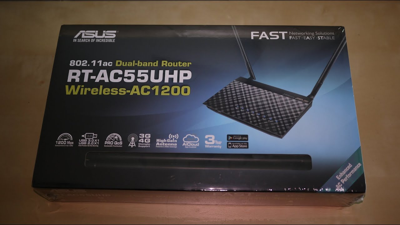 ASUS RT-AC55UHP Router Drivers (2019)