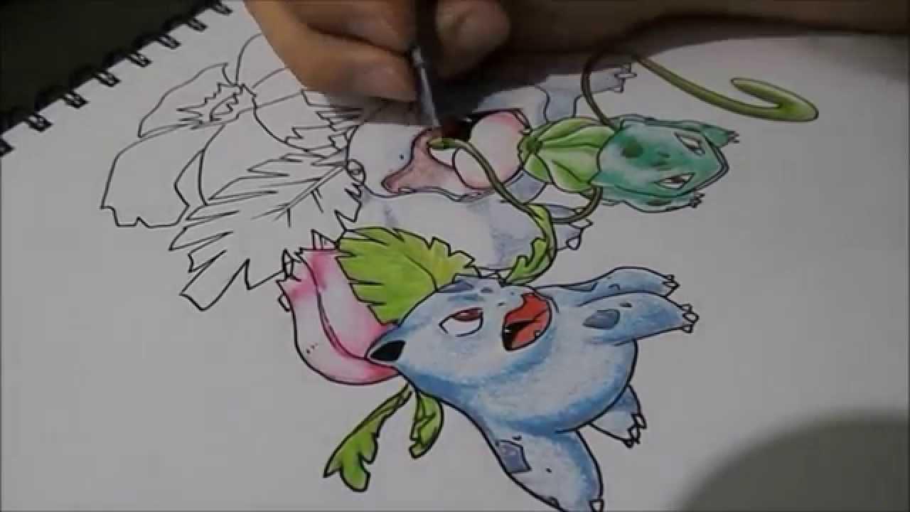 Let S Draw Pokemon Bulbasaur Ivysaur And Venusaur