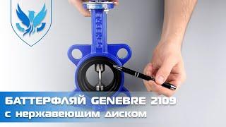 ⛲️???? Задвижка Баттерфляй Genebre 2109 Ду 65, ???? обзор на затвор дисковый поворотный межфланцевый