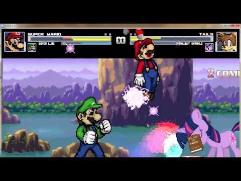 SUPER MARIO [ME] AND SUPER LUIGI VS TAILS AND TWILIGHT SPARKLE MUGEN