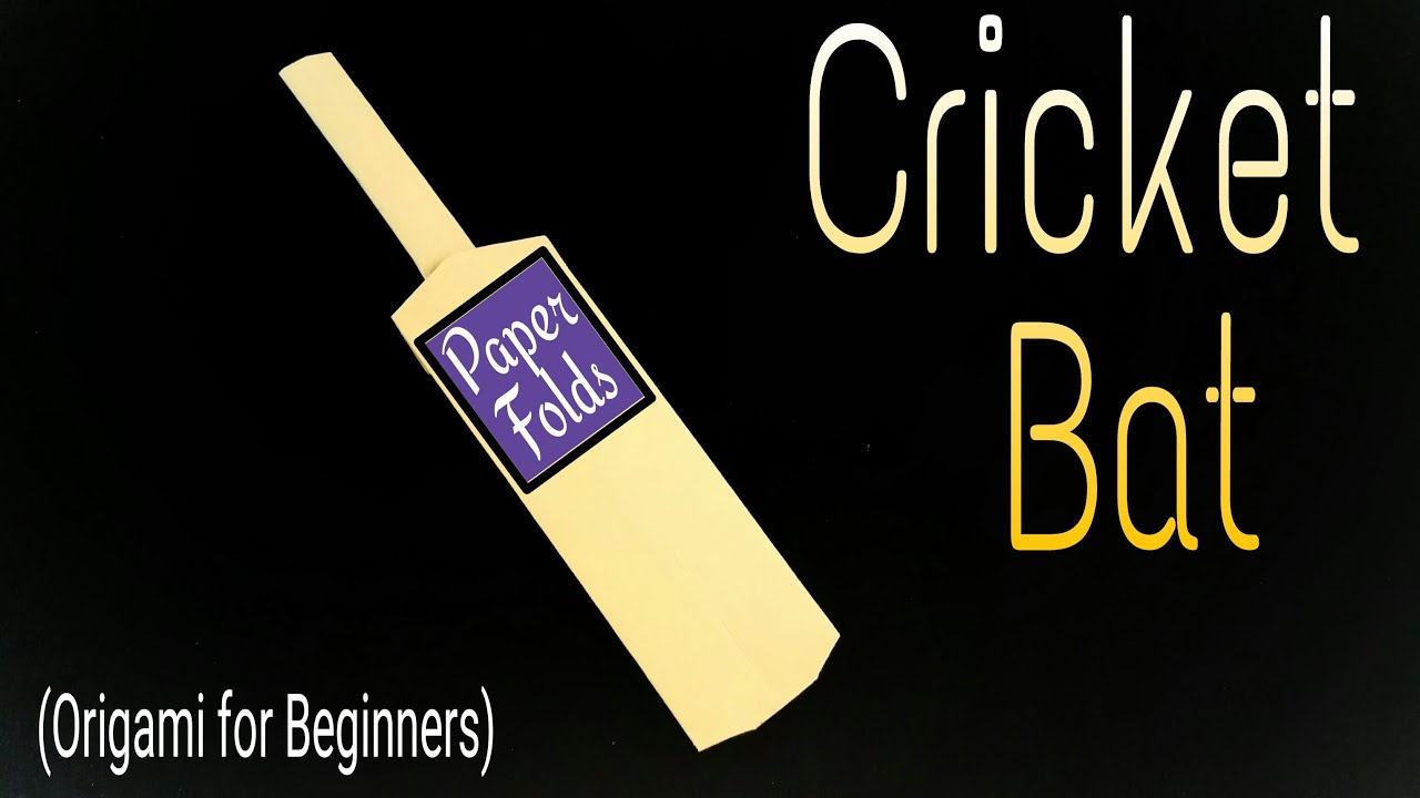 How to make a paper cricket bat origami for for The cricket arts and crafts