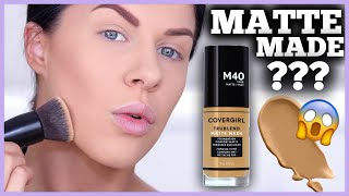 COVERGIRL MATTE MADE FOUNDATION | FIRST IMPRESSIONS, DEMO & REVIEW!!