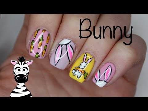 Cute Bunny and Carrot Nail Art Tutorial | Madam Glam | Melody Minutes thumbnail