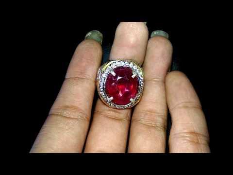 Cincin Batu Permata Ruby merah delima Asli (kode:684)