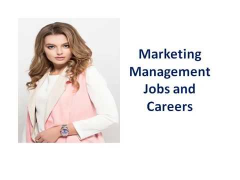 Marketing Management Jobs and Careers