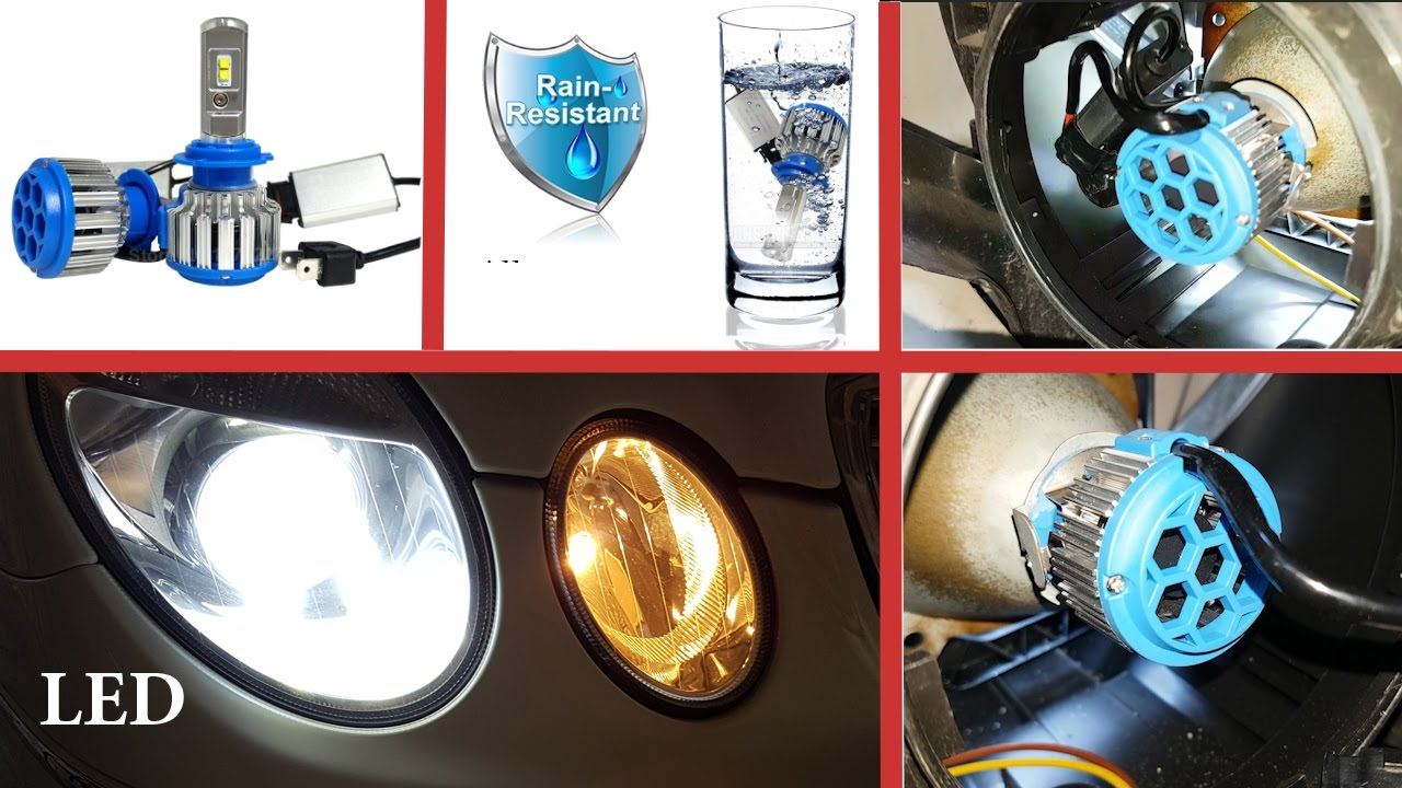 How to install LED bulbs H7 in dipped beam on Mercedes W211 ...