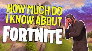 I GET QUIZED ABOUT FORTNITE