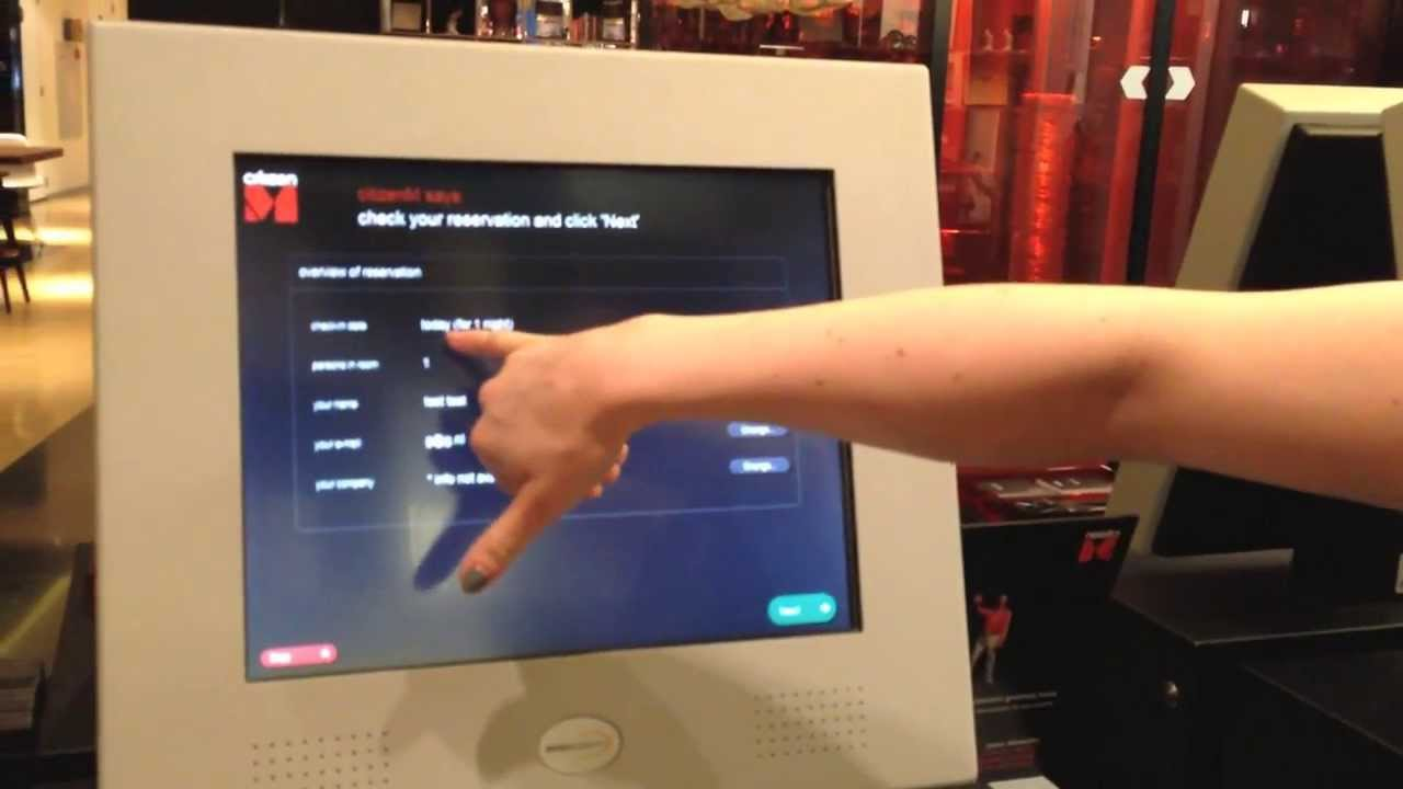 Citizenm Hotel In Amsterdam Check In System Youtube