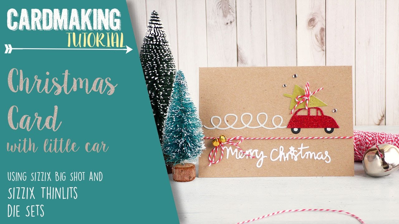 Last minute Christmas Cards with little car and tree - YouTube