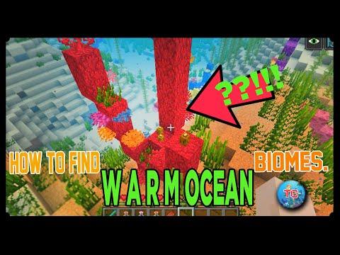 How To Find Warm Ocean Biome In Minecraft[1.15.2]