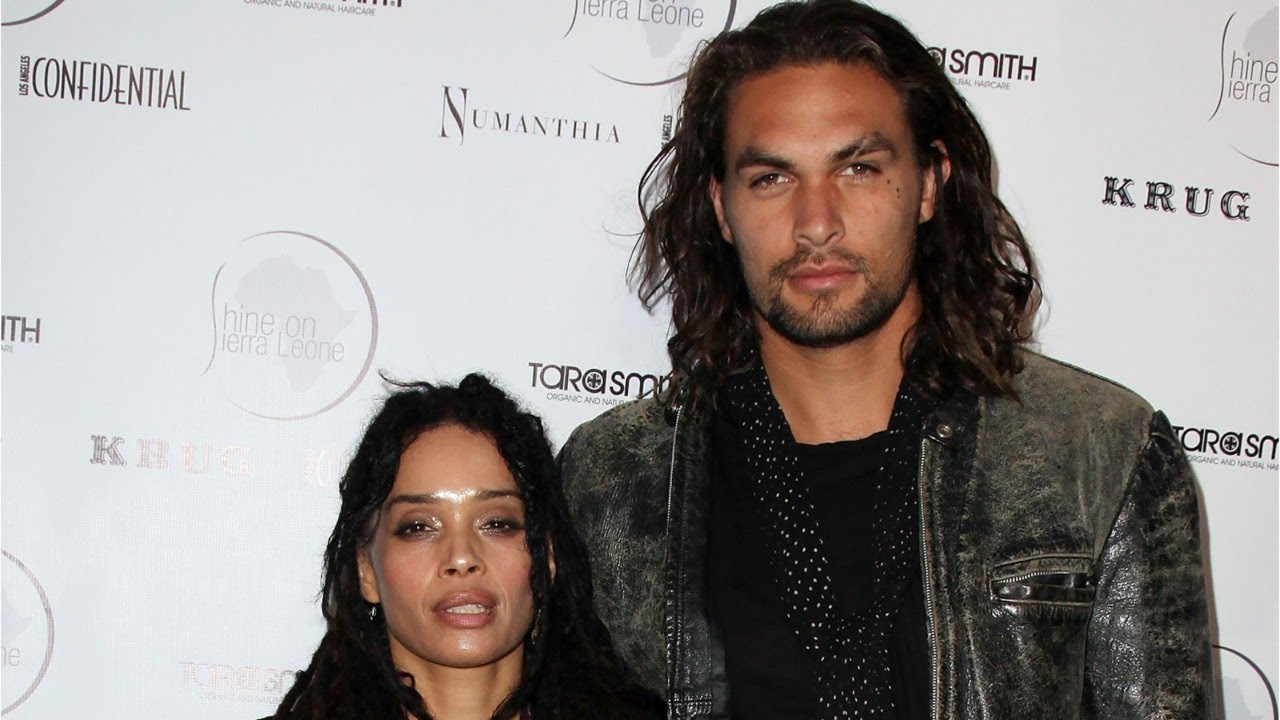 Zoe Kravitz Cuddles With Papabear Jason Momoa