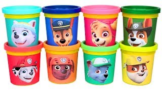 Learn Colors with Paw Patrol Play Doh Molds Skye Everest Tracker Marshall Chase Rubble Zuma Rocky