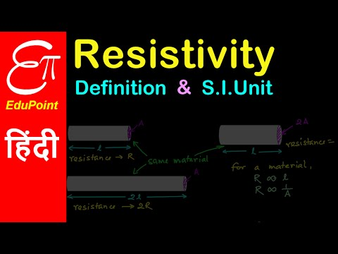 Definition of resistivity or specific resistance of a material and its S.I. Unit | in HINDI | हिंदी