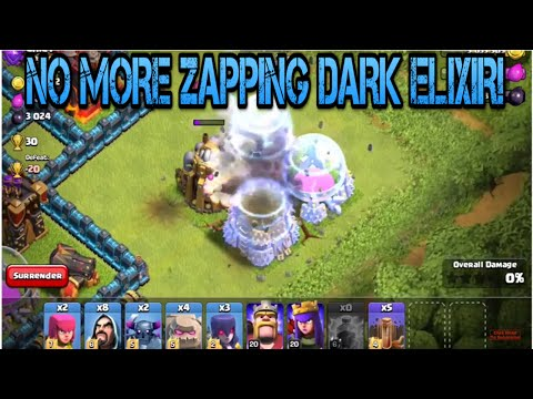 Clash of clans: NO MORE ZAPPING DARK ELIXIR, GOLD STORAGE'S, OR ELIXIR STORAGE'S!