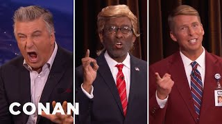 CONAN Staffers Challenge Alec Baldwin To A Trump Off  - CONAN on TBS