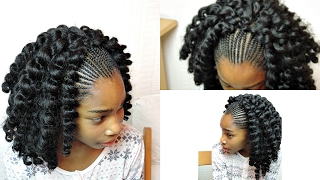 KIDS CROCHET BRAIDS WITH JUMPY WAND CURL TWIST