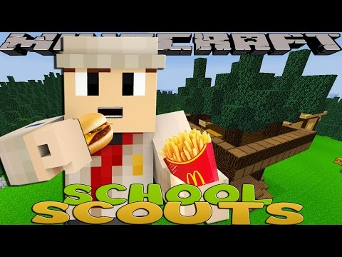 Minecraft School Scouts - MC DONALDS FAST FOOD BADGE!!
